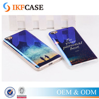 Hot Beautiful Soft TPU Back Cover for HTC M7 M8 Soft Silicone Phone Protective Case With Blue light