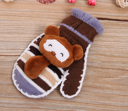 Cartoon warm bear thicker mittens glove