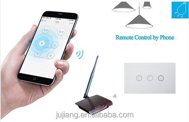 LED indicator screen touch switch wireless 220V light switch for home useJJ-USB-03AB