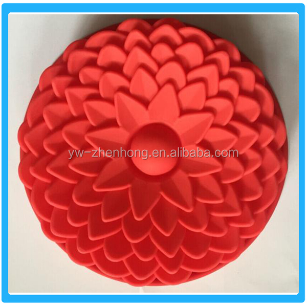 Funny Silicone Flower Shaped Cake Mould