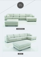 high back single sofa living room leather sectional sofa