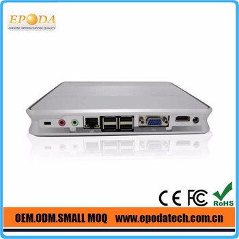 Newest Fanless DC 12V X86 Intel Celeron 1037u Dual Core Mini PC HDMI+VGA+4 USB+LAN+(wifi)