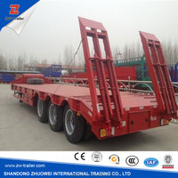 china trailer factory new 100 ton multi-axle hydraulic truck trailer for sale