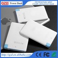 Card size super slim power bank portable wallet power bank charger