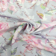 wholesale 75D chiffon printed 100% polyester floral fabric