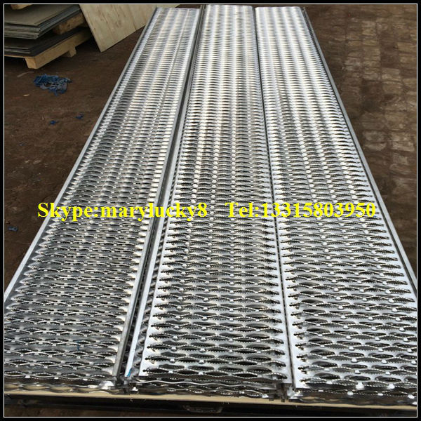 Scaffolding Perforated Steel Planks Used For Construction