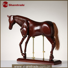 High Fashion Promotion Wooden Decorative Articulated Poseable Wooden Little Models Horse Mannequin