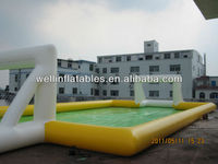 summer cool soap water inflatable football court / football playing field inflatable
