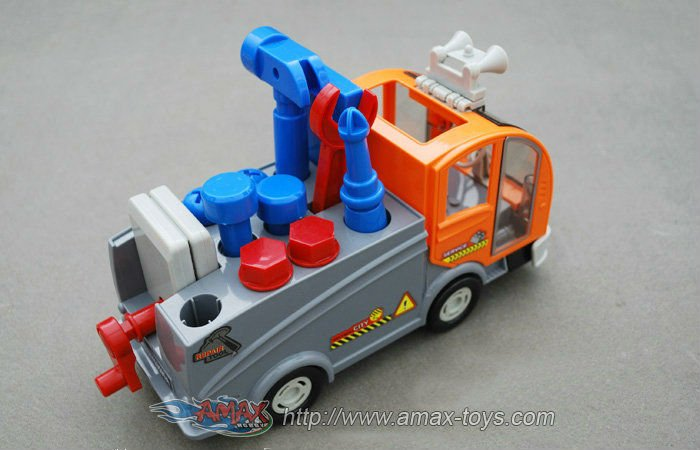 bump-316D53 electric bump and go construction car with music. DIY construction truck