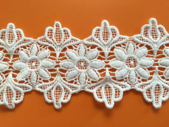 hot sale water soluble cotton lace trim