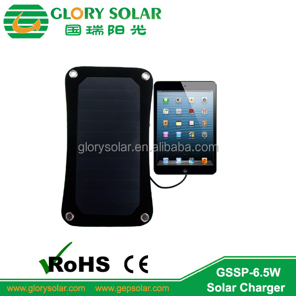 6.5W flexible solar panel for backpack