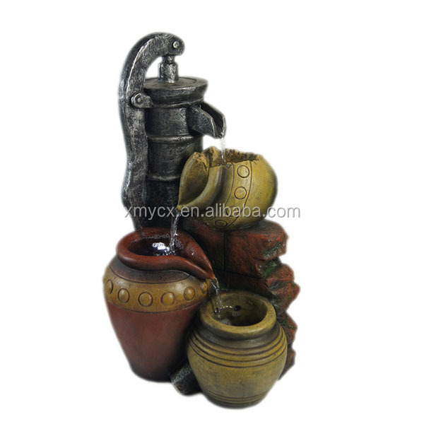 Fiberglass big size jar outdoor garden fountain sale