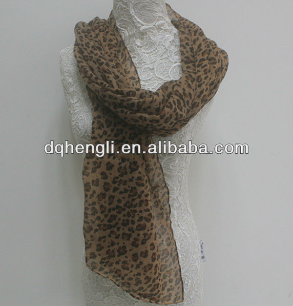 Fashion scarf printing leopard scarf for christmas present