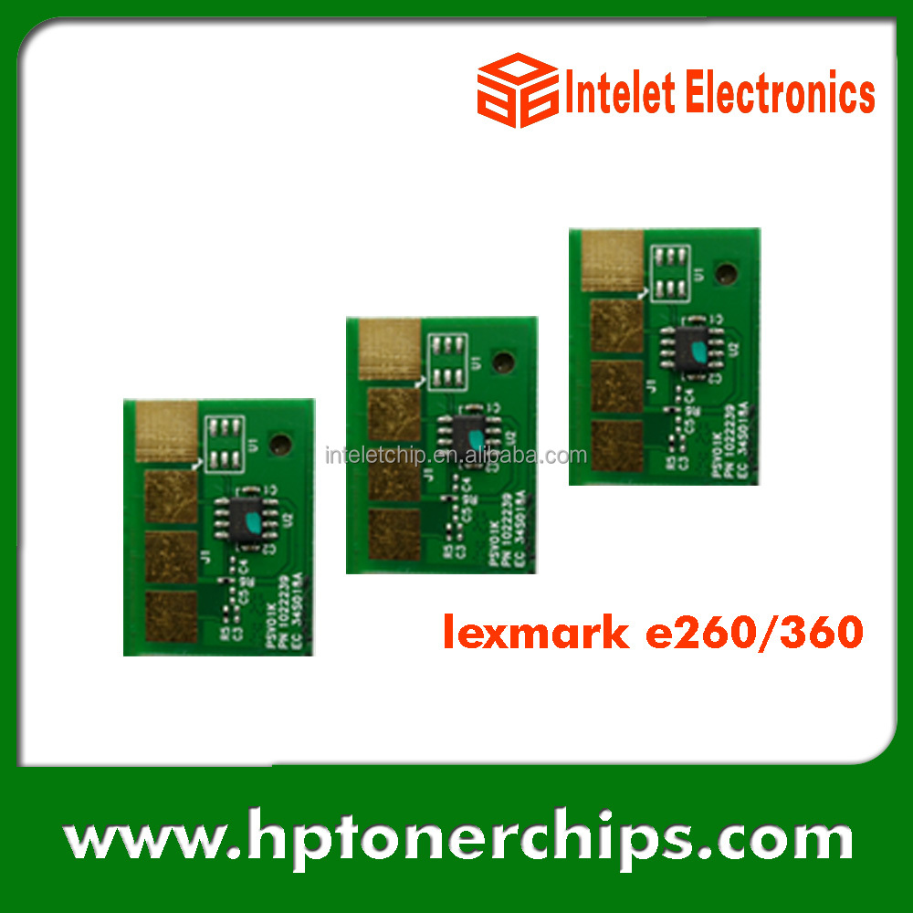 hot selling Lexmark E260 E360 toner reset chip