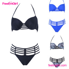 2016 Royal Blue Underwire Picture Hot Sex Girl Swimwear Bikinis Tanga
