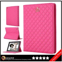 Keno Quilted Folio Protective Book Cover Case for iPad 2/3/4 with Stand, Bling Diamond Case for Tablets