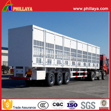 Steel Aluminum Side Board Fence Livestock Truck Trailers For Sheep Cattle Ox Pig Transportation