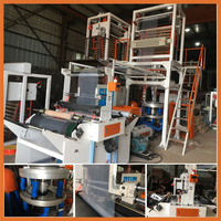 SJ50-700Blown Film Machine HDPE/LDPE/LLDPE Film Blowing Machine Plastic