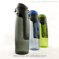 Sports goods from Mountop drink bottle different colors, sport branded water bottle with money holder