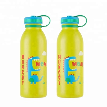 450ml BPA Free vacuum insulated stainless steel kids water bottle with handle