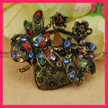 wholesale new custom fashion colorful rhinestone metal brooch pins WBR-1257