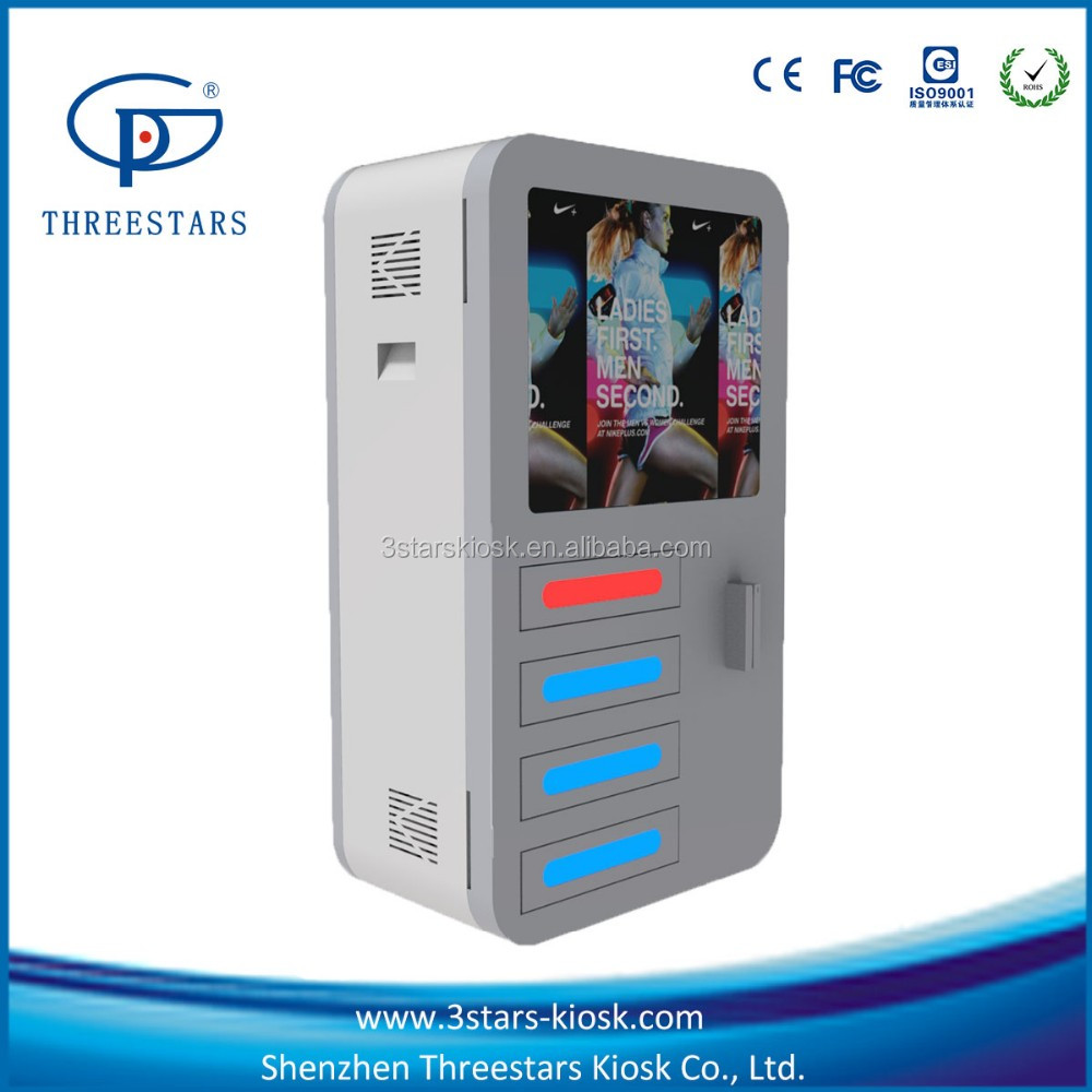 digital lockers one-to-one desktop charge kiosk with card reader <strong>payment</strong> charge station