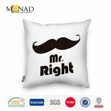 White And Black Design Monogrammed Digital Print Chair Pillow Case