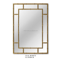 High end hotel Rectangle wall mirror, Iron decorative mirror