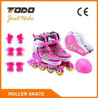 Four wheels child cougar inline skate with perfusion wheel