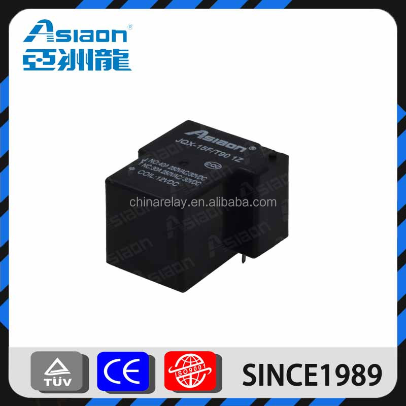 Asiaon JQX-15F(T90)12V 24V 40A high quality PCB relay