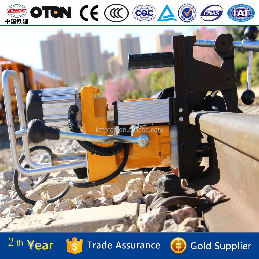 Powerful light-weight electric rail drilling machine