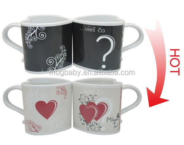 neuheiten waren aus china farbwechsel keramik k ssen mug. Black Bedroom Furniture Sets. Home Design Ideas