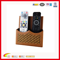 New arrive PU Leather remote control holder with pen holder China supplier