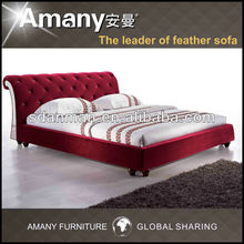 modern leather bed for bed room furniture T1107P