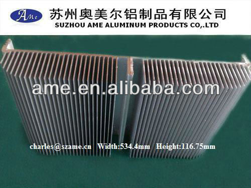 Large and high power aluminium heat sink for led