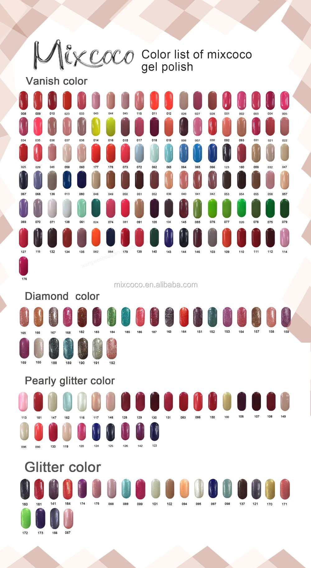Mixcoco brand wholesale uv gel nail polish for private label low ...