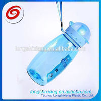 2015 pc/tritan plastic water bottle with carabiner,with handle custom plastic water bottle,canteen plastic water bottle