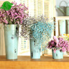 Home Garden Oval Metal Flower Pot