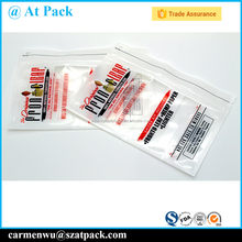 Custom printed plastic tobacco pouch with ziplock
