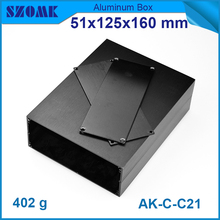 51*125*160mm custom die casting aluminum switch box brushed aluminum junction case split type open frame metal shell