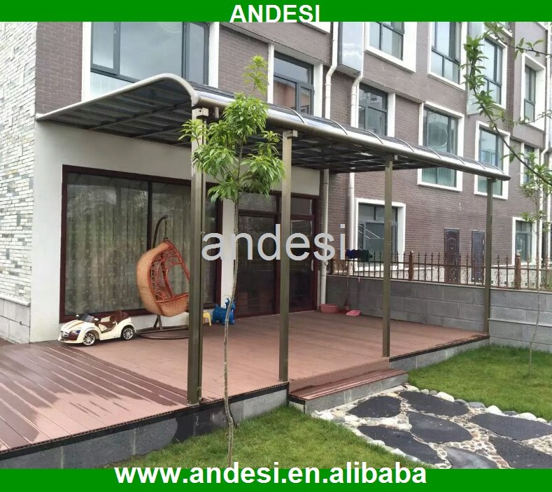 outdoor standing metal solid canopy