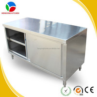 kitchen stainless steel table/kitchen utility table/kitchen work table with drawers