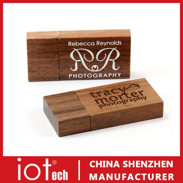 Print Wooden USB Stick Flash Drive with Wooden USB Box