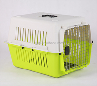Convenient airline approved plastic dog transport box cage carrier
