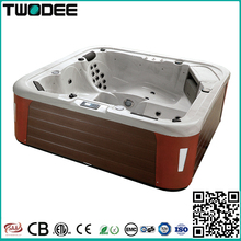 freestanding rectangle home use hot tub 5 persons Balboa control whirlpool outdoor spa