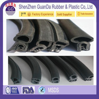 extruded EPDM rubber window seal / auto glass rubber seals / glass shower door rubber seals