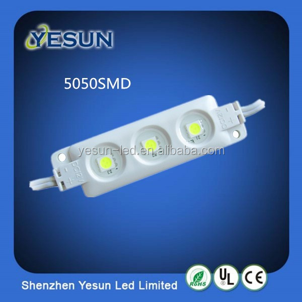 Good ABS injection 12V waterproof 3 chips 5050 smd led module