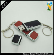 High quality leather 4gb usb flash memory disk