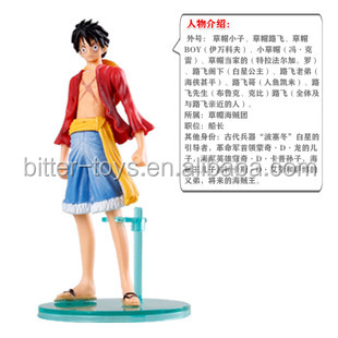 one piece pvc small figure toy , plastic custom action figure