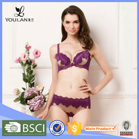 OEM Supplier Latest Fashion Transparent Panty Girls Bra And Panty